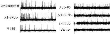 図1 電気生理応答例(クロアゲハ雌)